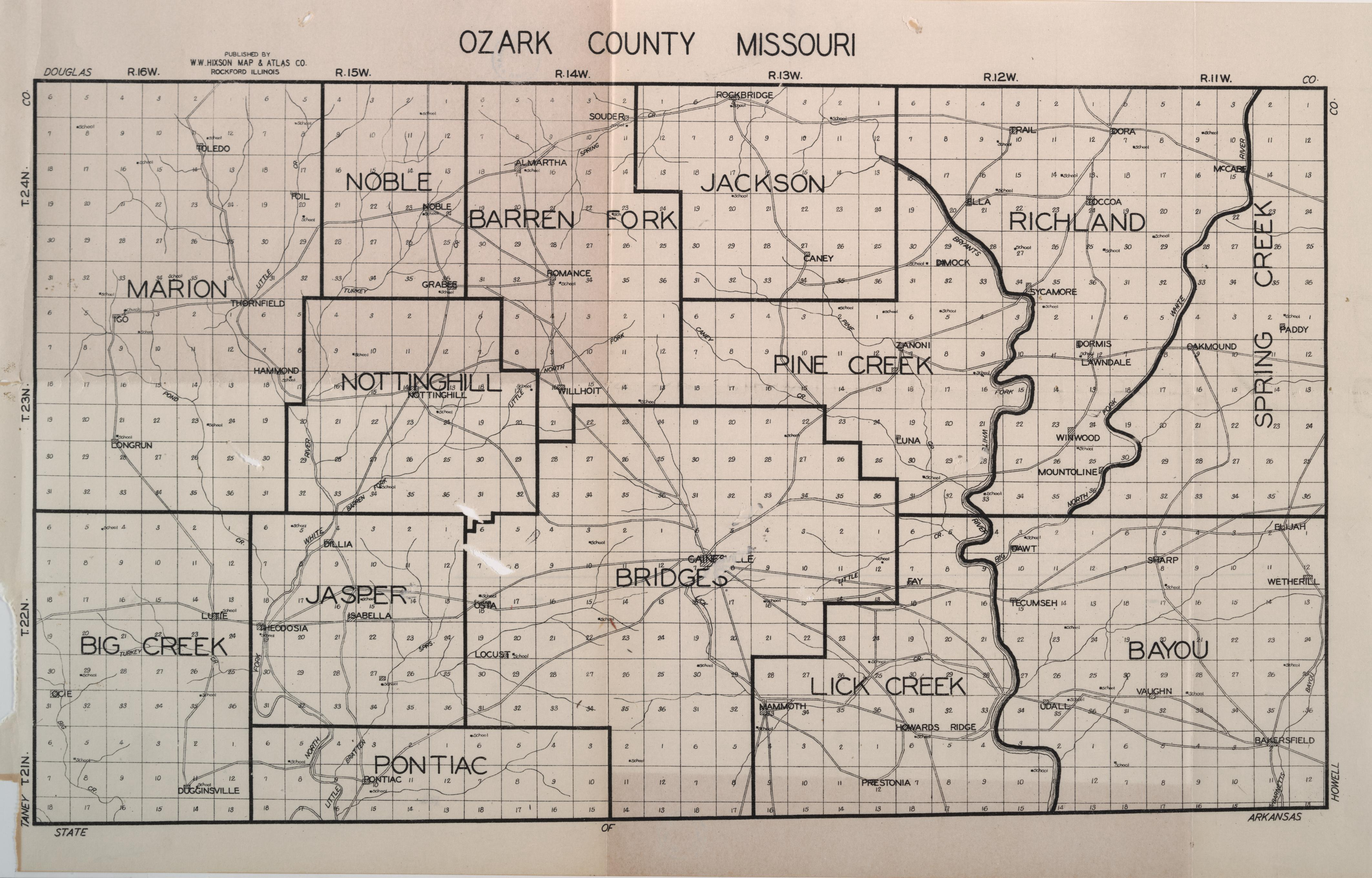 County info links plat book map for ozark county entire county aiddatafo Choice Image